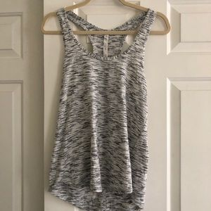 Lululemon grey and white racerback tank top